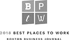 2018 Boston Business Journal Best Places to Work Award Winner