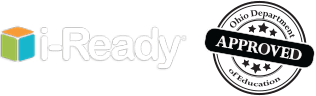 i-Ready logo and Ohio Department of Education Approved seal.