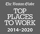 The Boston Globe Top Places to Work 2020.