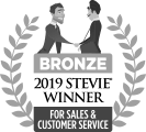 Bronze 2019 Stevie Winner Award for Sales & Customer Service.