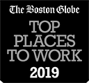 The Boston Globe Top Places to Work 2019.
