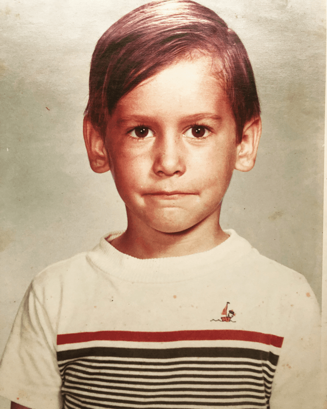 Picture of Jorge Navarro as a child.