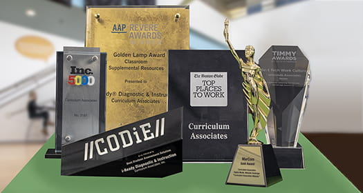 Group of award plaques.