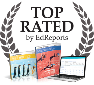 EdReports Top Rated logo with Ready Classroom Mathematics materials.