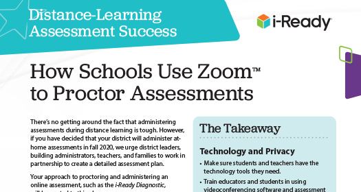 "First page the ""How Schools Use Zoom to Proctor Assessments PDF."