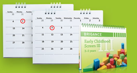BRIGANCE Early Childhood Screens III developmental screening multiple times per year.