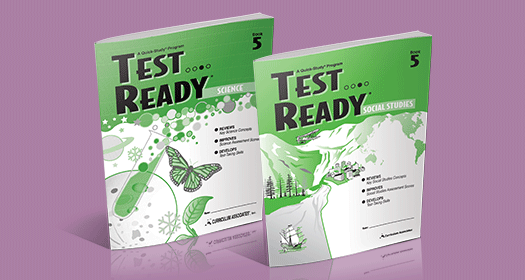 TEST READY Science and TEST READY Social Studies books.