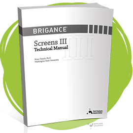 BRIGANCE Screens III Technical Manual cover.