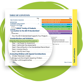 Table of Contents highlighting Step-by-Step Assessment Procedures.