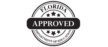 "Florida Department of Education ""Approved"" seal."