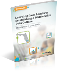 Cover of a PDF titles Learning from Leaders: Establishing a Districtwide Data Culture.