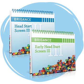 BRIGANCE Head Start Screen III books.