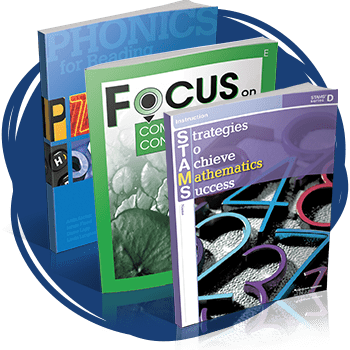 PHONICS for Reading, Focus on Reading, and Strategies to Achieve Mathematics Success (STAMS) books.