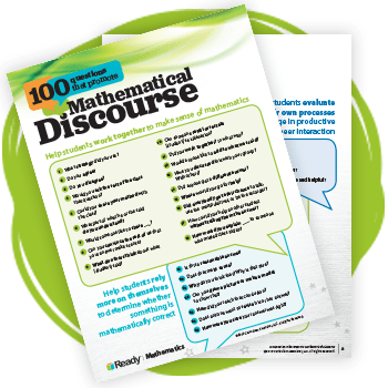 100 questions that promote Mathematical Discourse graphic