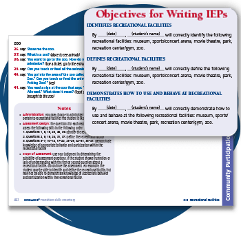 Page from TSI assessment with Objective for Writing IEPs highlighted.