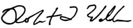 Rob Waldron's signature