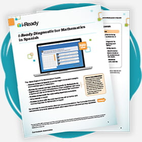 Cover of i-Ready Diagnostic for Mathematics in Spanish.