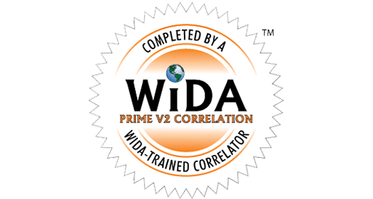 WIDA Prime V2 Correlation logo.