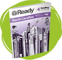 Ready North Carolina Reading Grade 4 Student Assessments Book.