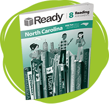 Ready North Carolina Reading Grade 8 Student Assessments Book.